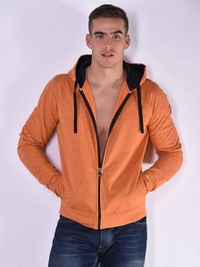 Roberto Lucca Hoodie Long Sleeved Sweater Orange Melange 802...