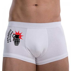 MySexyShorts Sex Bomb Boxer Brief Underwear White