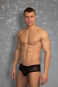 Doreanse Lace Boxer Brief Underwear Black 1566