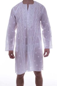 L'Homme Invisible Tajah Nightshirt Loungewear White TAJAH