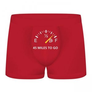 Shots Media 45 Miles To Go Funny Boxer Brief Underwear SLI058