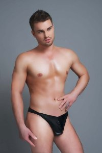 Andalea Speed Clip G String Underwear Black MC-9026