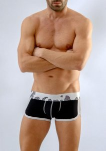 Geronimo Boxer Brief Underwear Black/White 1666B1-2