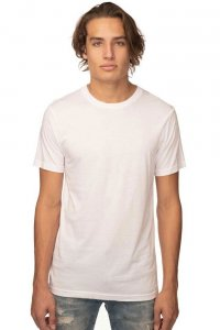 Royal Apparel Unisex Viscose Bamboo Organic Cotton Short Sleeved T Shirt Frost 73051