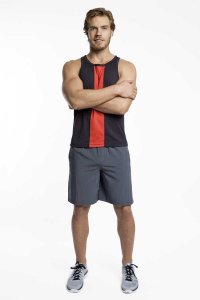 Jack Adams Race Tank Top T Shirt Black/Red 403-110