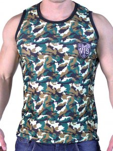 Good Boy Gone Bad VI9 Rigis Mesh Muscle Tank Top T Shirt Camouflage