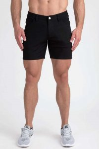 Clearance ST33LE Stretch Knit Shorts Black STL1932