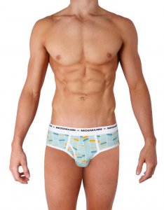 Mosmann Fox Brief Underwear Blue/Orange EC2810