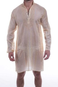 L'Homme Invisible Tajai Nightshirt Silk Loungewear Orange TA...
