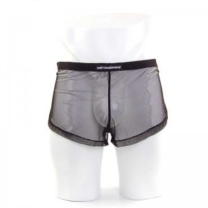 MIIW Lounge Split Mesh Loose Boxer Shorts Underwear Black 2008-71