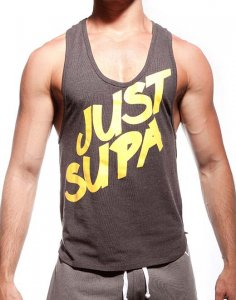 Supawear Just Supa Tank Top T Shirt Black Marle XT20JSBM