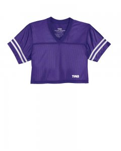 The Well Branded Wide Receiver V Neck Crop Top Jersey Short Sleeved T Shirt Purple