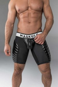 Maskulo Armored Codpiece Zippered Rear Full Thigh Pads Fetis...