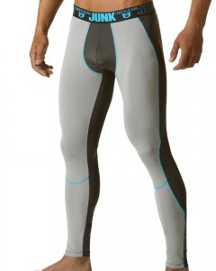 Junk Underjeans Raw Street Runner Microfiber Tight Pants Aqua MB19009