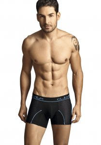 Clever Cotton Mesh Boxer Brief Underwear Black/Blue 2080