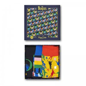 Happy Socks [3 Pack] Beatles Gift Box Socks XBEA08-0100-070