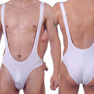 Don Moris Erotic Super Low Cut Bodysuit White DM140555