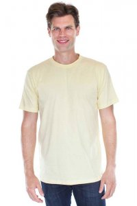 Royal Apparel Unisex Organic Short Sleeved T Shirt Canary 5051ORG