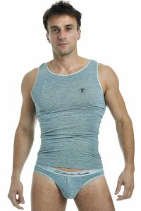 L'Homme Invisible Singlet Tank Top T Shirt Grey MY43-PER-GC1