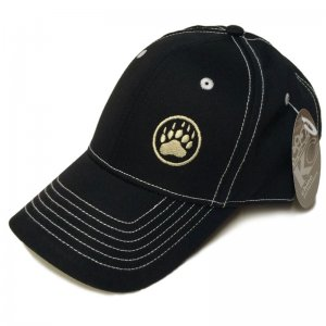 Ajaxx63 Bear Paw Logo Hat Black CP21