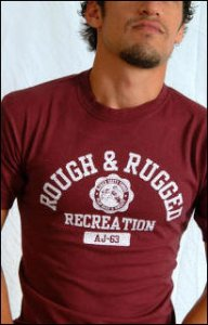Ajaxx63 T Shirt Rough & Rugged AS34