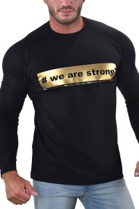 Roberto Lucca We Are Strong Sweat Long Sleeved T Shirt Black 10259-00020