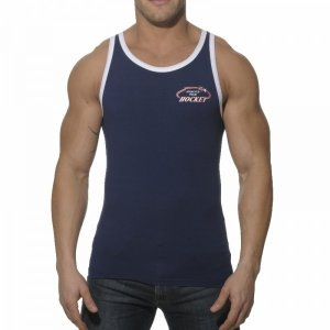 Addicted Hockey Sport Tank Top T Shirt Navy AD174