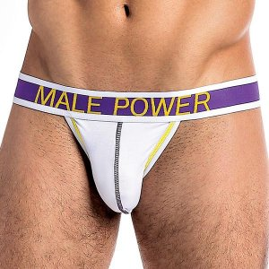 Male Power Pure Energy Micro Thong Underwear White 433-228