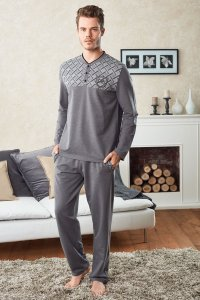 Doreanse Criss Cross Henley Long Sleeved T Shirt & Pants Set...
