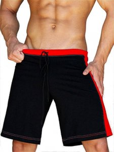 Jack Adams Relaxed Gym Shorts Black/Red 402-103