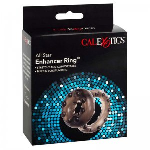 Cal Exotics All Star Enhancer Cock Ring Black 0517682