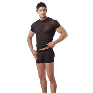 Rimba Mesh Short Sleeved T Shirt Black 1961
