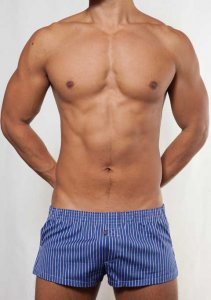 Toot Multi Stripe Loose Boxer Shorts Underwear Navy ST204174