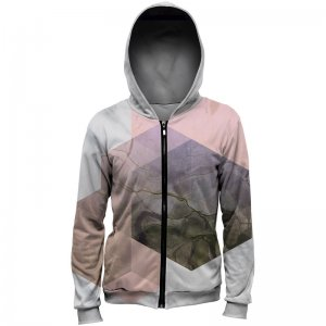 Mr. Gugu & Miss Go Marble River Unisex Zip Up Hoodie H-PC731