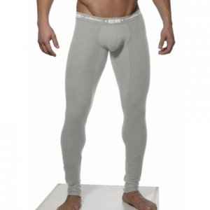 ES Collection Plain Long John Long Underwear Pants Heather G...