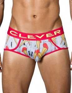 Clever Matches Piping Brief Underwear White 5340