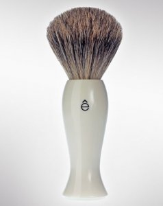 eShave Badger Hair Shaving Brush Fine White 780000