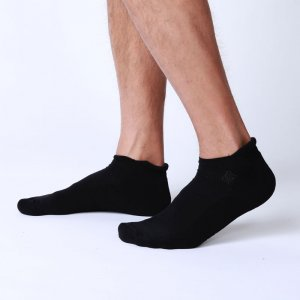 Bonne Cle Black & White Comfy Socks Black