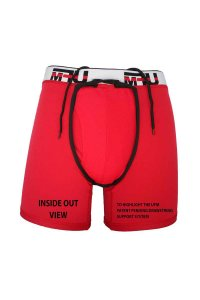 UFM Big & Tall 2.0 Sport 6 Inch Boxer Brief Underwear Red
