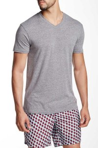 Mr.Swim The Casual V Neck Short Sleeved T Shirt Heather Charcoal