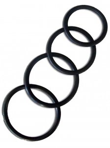 RudeRider [4 Pack] Fix Rubber Thin Cock Rings