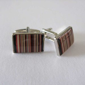 Distino Of Melbourne Formal Barcode Cufflinks C24