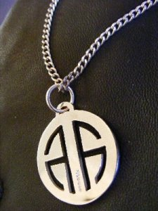 Alick Alexander Dog Tag Pendant Jewelry Silver