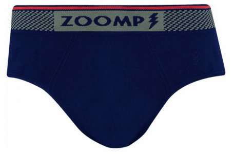 Zoomp Seamless Microfiber Brief Underwear Navy Blue 698-5