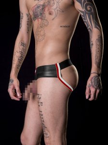 Barcode Berlin BlowBob Pouchless & Backless Jock Strap Underwear Black/White/Red 91155-107