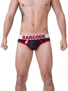 Barcode Berlin Twenty 9 Mesh Brief Underwear Black/Red 91171-103