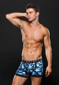 Envy Camo Logo Elastic Boxer Brief Underwear Blue E053