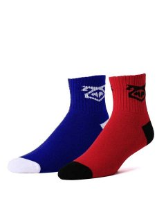 Nasty Pig Flasher Socks Blue & Red 7416
