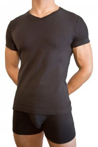 Baskit V Neck Black T Shirt A1650