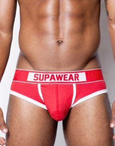 Supawear Crimson Brief Underwear Red